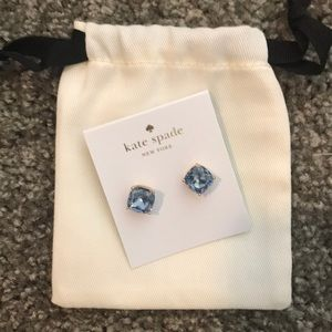 Kate Spade Blue Crystal Earrings